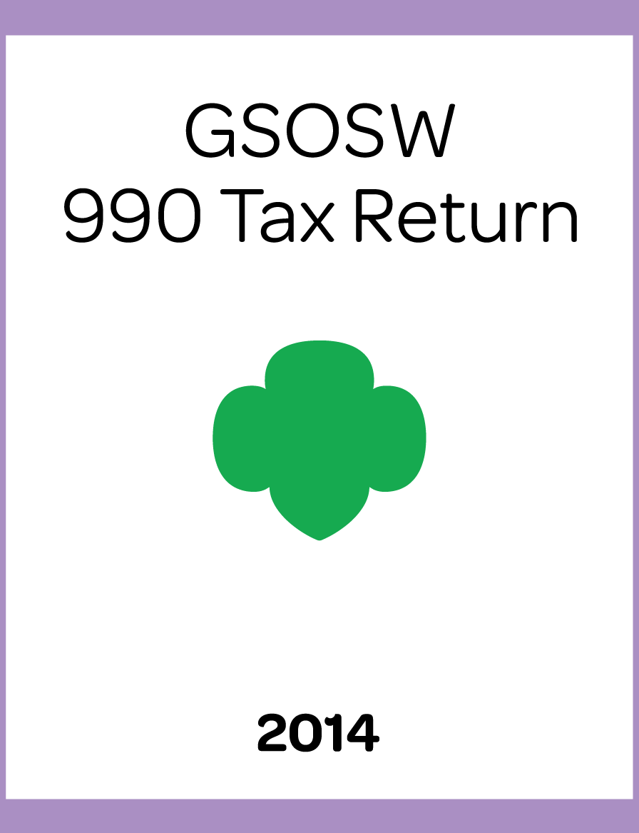2014 GSOSW 990 Tax Return