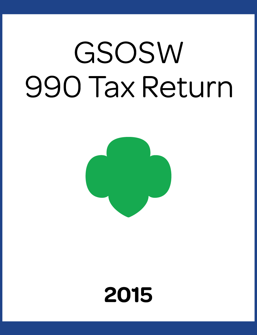 2015 GSOSW 990 Tax Return