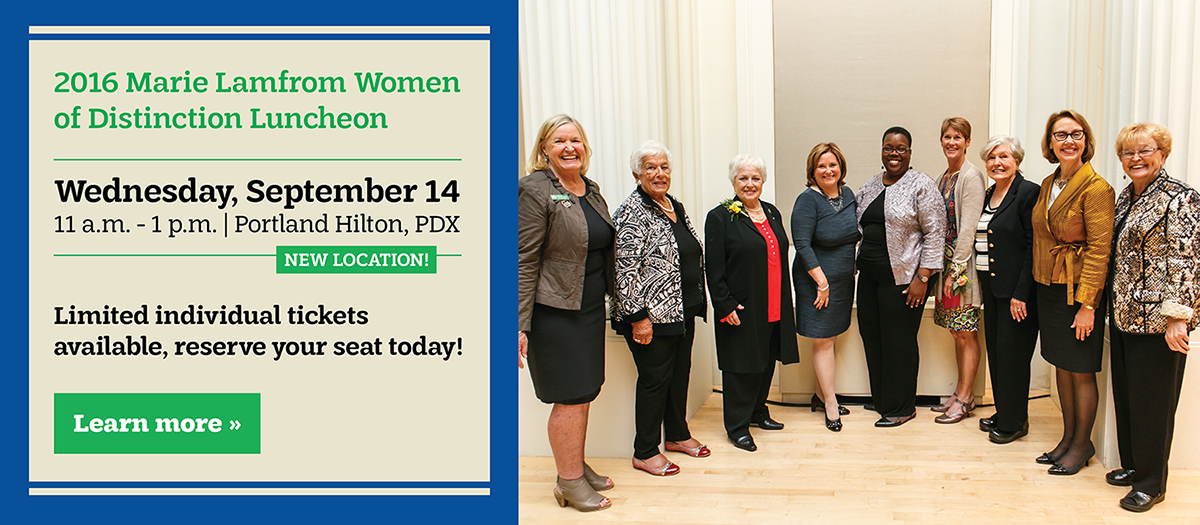 Reserve your seat at the 2016 Marie Lamfrom Women of Distinction Luncheon!