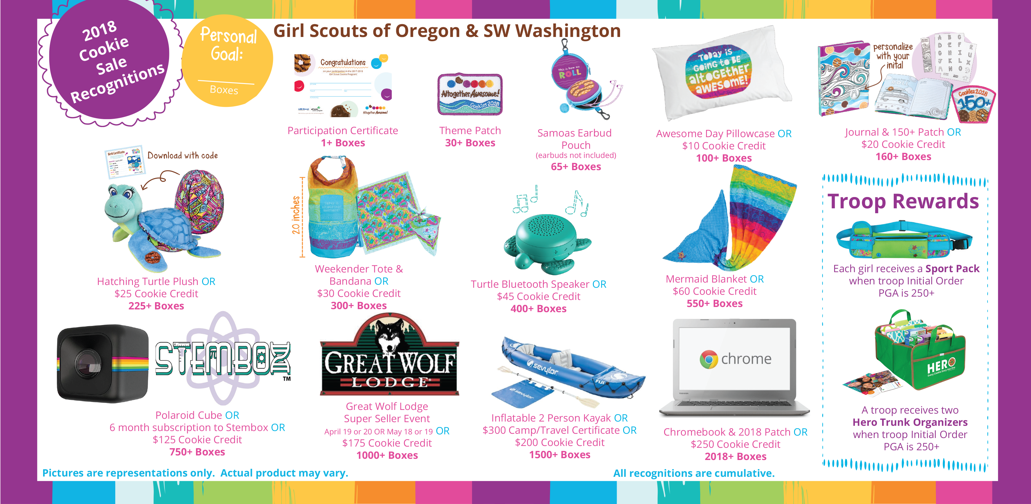 rewards girl scouts osw