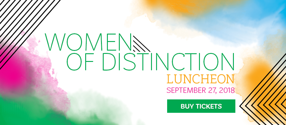 Buy tickets for the 2018 Marie Lamfrom Women of Distinction Luncheon!